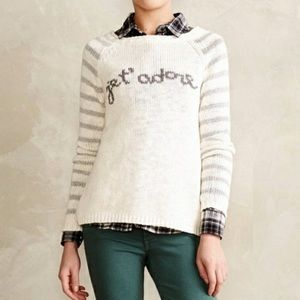 MOTH je t'adore French graphic sweater L